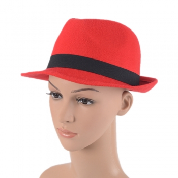 cheap red fedora hat