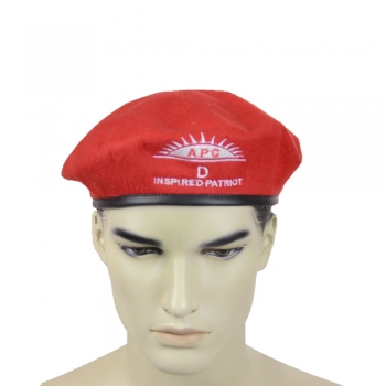 Cheap polyester APC embroidery military beret